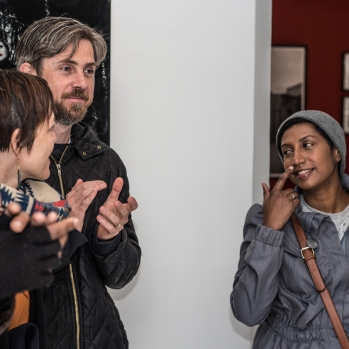 Artist and Curator walkabout