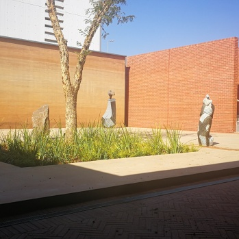 Sculpture garden view