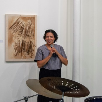 Carlyn Strydom at the opening reception for What is South Africa, even? Vol.2