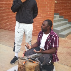 Stone demonstration by Terrence Chakanyuka